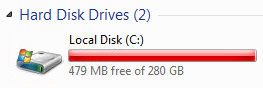 Run out of space HDD