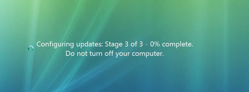 windows update stuck 3 of 3