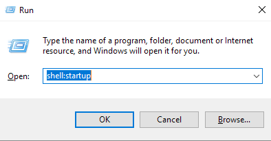 find startup folder location win 10 shell:startup