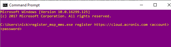 [SOLVED] Manually Register Acronis Backup Client for Backup Cloud