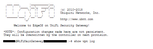 Find VPN Log Unifi USG